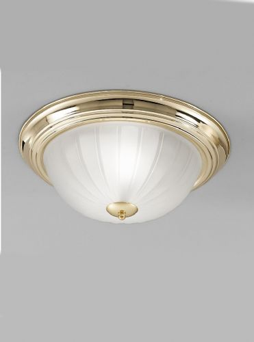 Franklite CF5639 Brass Flush Light